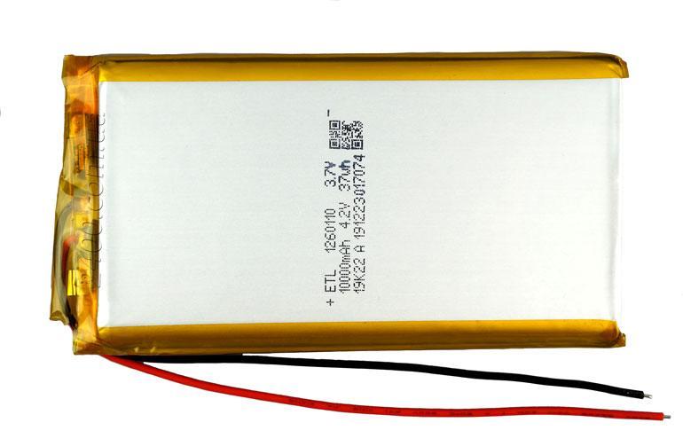 Аккумулятор литий-полимерный 10000mAh размер 1260110 мм - Li-po акб. 3.7v (с контроллером заряда)