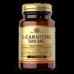 Л-карнитин Solgar L-Carnitine 500 мг (30 таб) солгар