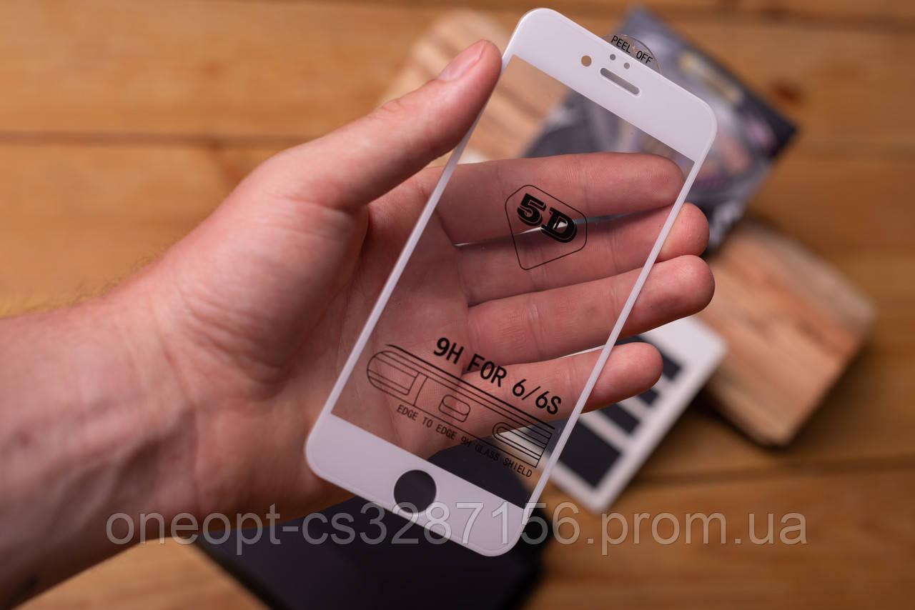 Защитное стекло + защитная сетка на динамик для iPhone 7/8 White