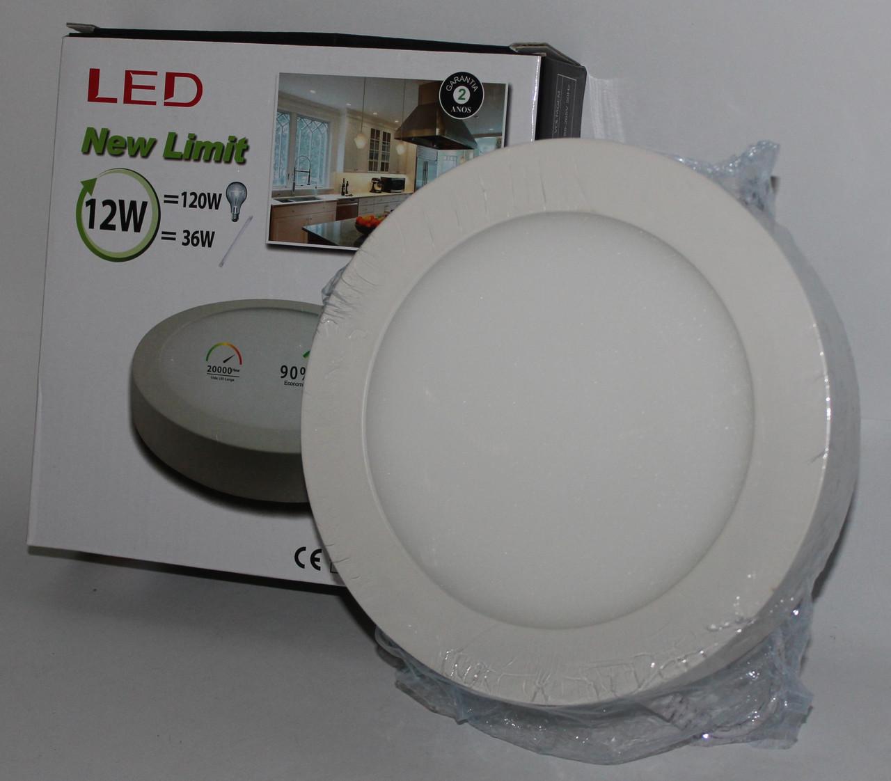 Стельова LED лампа накладна, кругла