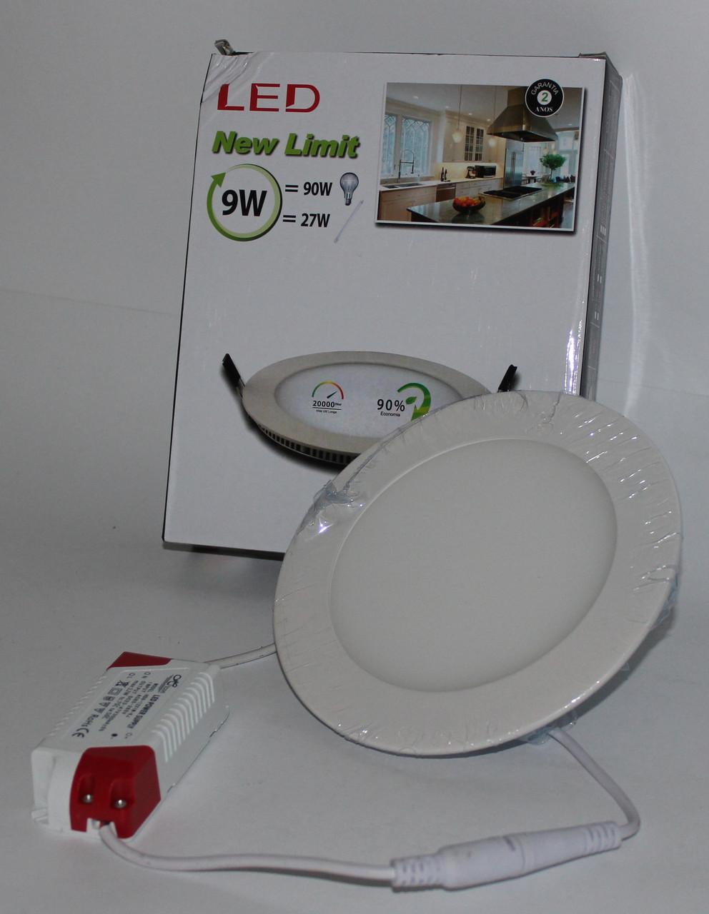 Потолочная LED лампа встраиваемая, круглая