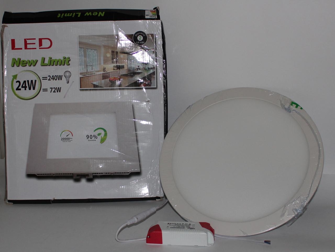 Стельова LED лампа вбудована, кругла