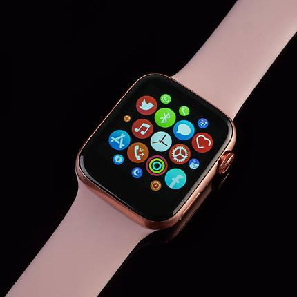 Смарт часы AirPlus Smart Watch T500 розовый цвет. Диагональ 1.54, умные часы, фитнес браслет., фото 2
