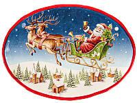 Блюдо новогоднее Дед Мороз 33 см