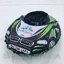 """Детский надувной тюбинг в форме машины D100 """"RacingСars""""(зеленый)"""