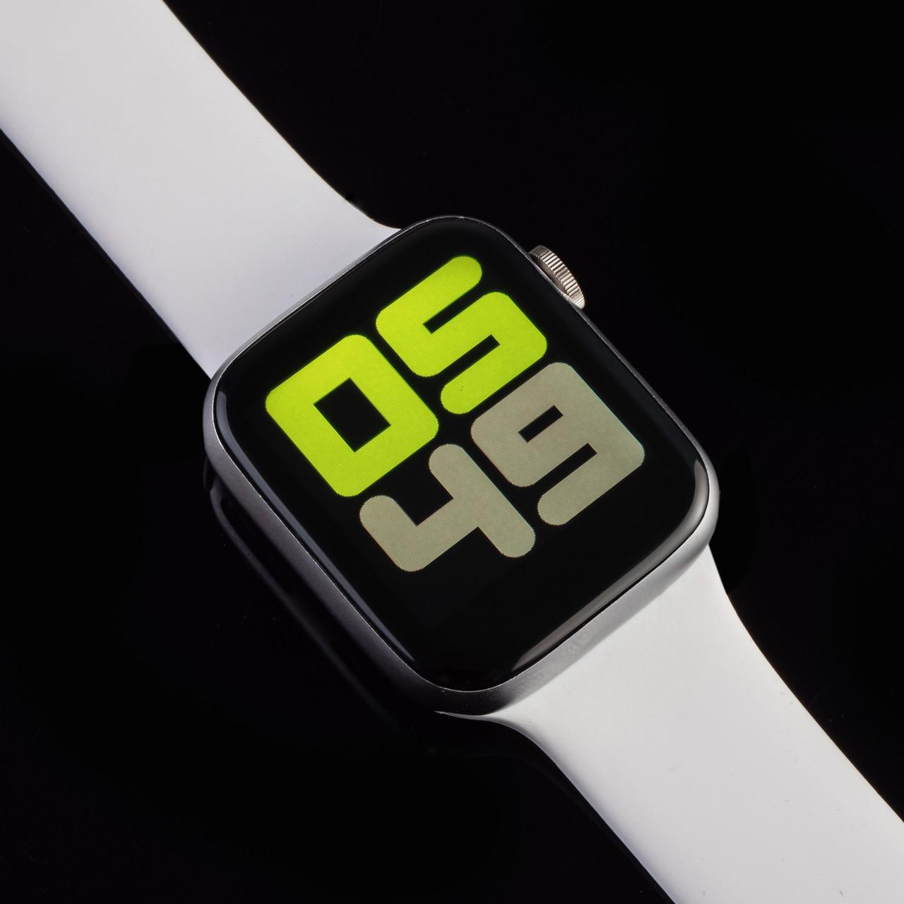 Смарт часы AirPlus Smart Watch T500 белый цвет. Диагональ 1.54, умные часы, фитнес браслет.