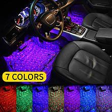 Подсветка зоны ног и салона автомобиля с пультом дистанционного управления и музыкальным сенсором  RGB A-12