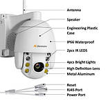 Камера  5xzoom PTZ IP WiFi 1080 P 2MP двухсторонним аудио, фото 2