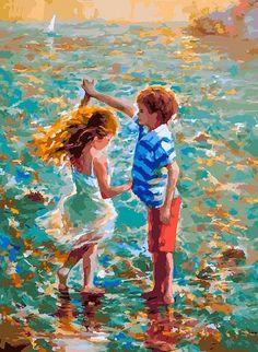 """Картина по номерам Белоснежка 288-AS """"Танец на воде """""""