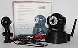 Безпроводная (WI-FI) проводная IP камера с возможностью удаленного управления, ночное видение, фото 2