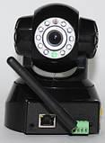 Безпроводная (WI-FI) проводная IP камера с возможностью удаленного управления, ночное видение, фото 5
