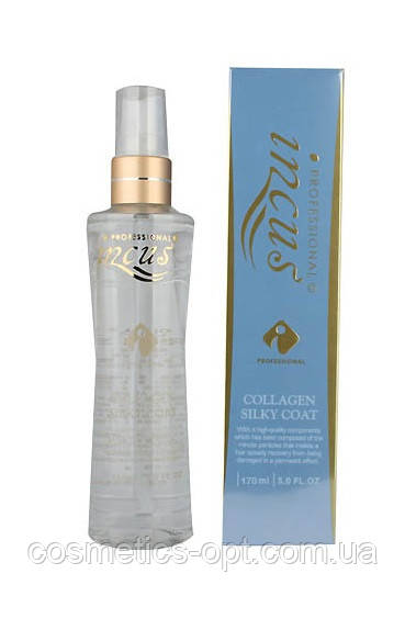 Шелковая несмываемая эссенция для волос Incus Collagen Silky Coat, 170 ml