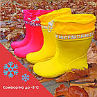 Непромокаемые сапоги с утяжкой из пены р-ры 36, 37, 38, 39, 40 Резиновые сапоги цвета хаки, фото 6