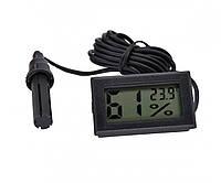 Термометр - гігрометр цифровий Beluck DIGITAL з виносним датчиком 1.5 м ЧОРНИЙ, Термогігрометр