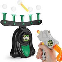 Игра воздушный тир пистолет с дротиками и летающие мишени Hover Shot