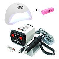 Набор фрезер Strong 204/102L 35 000 об/мин, 65 Вт+лампа для маникюра SUN X 54W