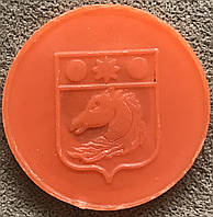 Транспортный жетон для Харьковского метрополитена. Оранжевый, матовый., фото 1