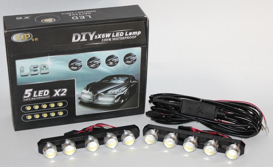 Денні ходові вогні (DRL) LED DIY 2x6W