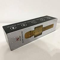 Беспроводной Bluetooth Микрофон для Караоке Микрофон DM Karaoke Y 63 + BT. Цвет: золотой, фото 2