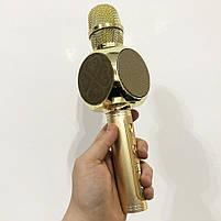 Беспроводной Bluetooth Микрофон для Караоке Микрофон DM Karaoke Y 63 + BT. Цвет: золотой, фото 7