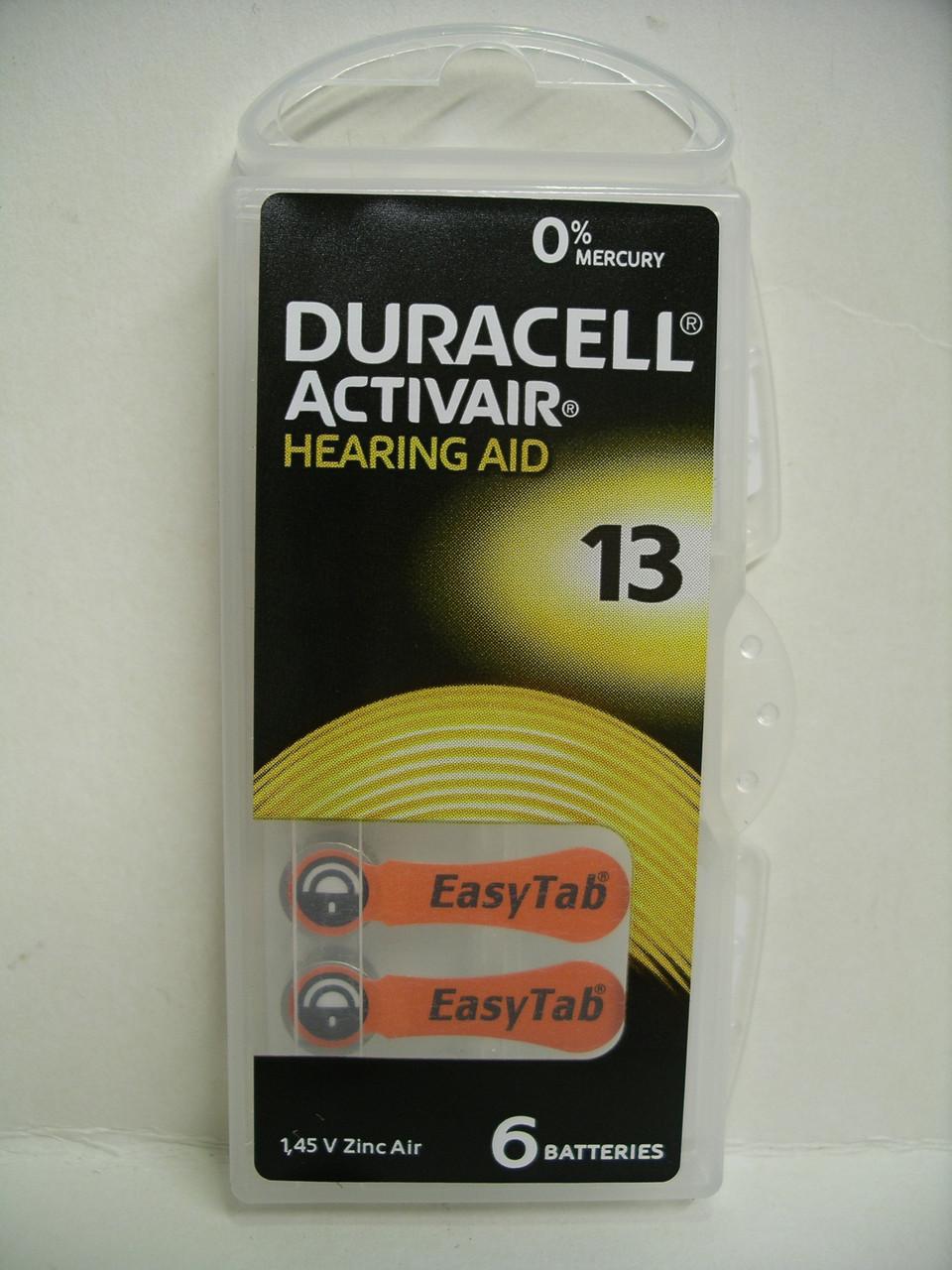Батарейка Duracell ZA13 Hearing Aid для слухових апаратів