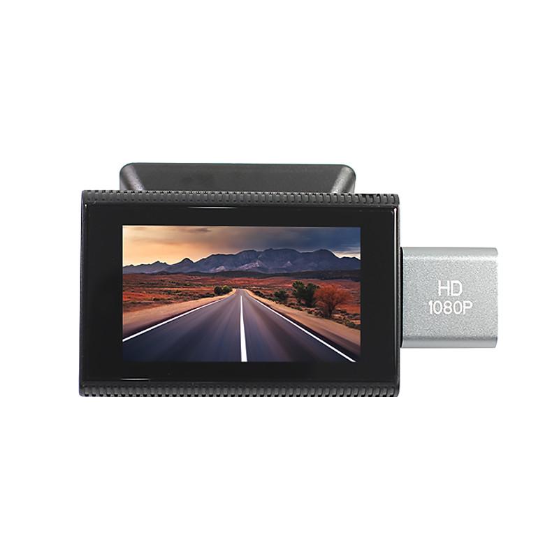 Автомобильный скрытый видеорегистратор Lesko F8 с двумя объективами Android 8.1 GPS