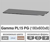 Стеклянная полка прямоугольная Commus PL15 PG (180х600х8мм), фото 1