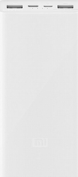 Power Bank Mi3 20000mAh white Fast Charge 3.0 3USB VXN4258CN (PLM18ZM) Гарантия 3 месяца