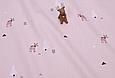 Сатин (хлопковая ткань) на беже лоси, стрелочки, елки (25*160), фото 2