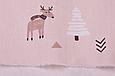 Сатин (хлопковая ткань) на беже лоси, стрелочки, елки (25*160), фото 3