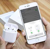 Беспроводные сенсорные Bluetooth наушники i12 5.0 с кейсом Белые