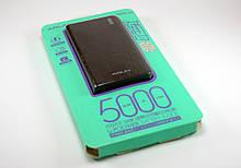 Зовнішній акумулятор Power bank 5000mA Arun J20