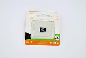 Карта памяти Micro SD 64Gb T&G Class 10 без ад. (UHS-3)