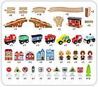 Железная дорога из дерева детская, EdWone, 100 деталей, 3+ (Brio, Ikea) E17P02, фото 6