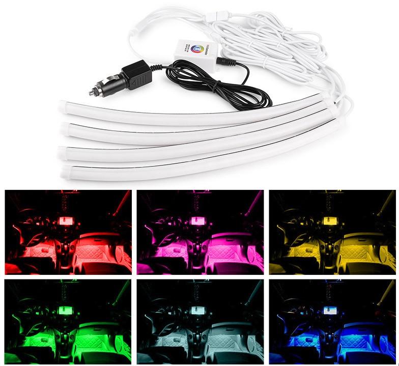Підсвічування салону авто RGB з управлінням по Bluetooth