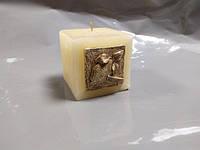 """Свічка """"Куб"""" з орнаментом (1 шт.)"""