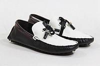 Мокасины мужские Louis Vuitton Leisure (луи виттон) черно-белые