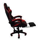 Крісло геймерське розкладне B 810 з системою гойдання з підставкою для ніг геймерський стілець компьютерны червоний, фото 3