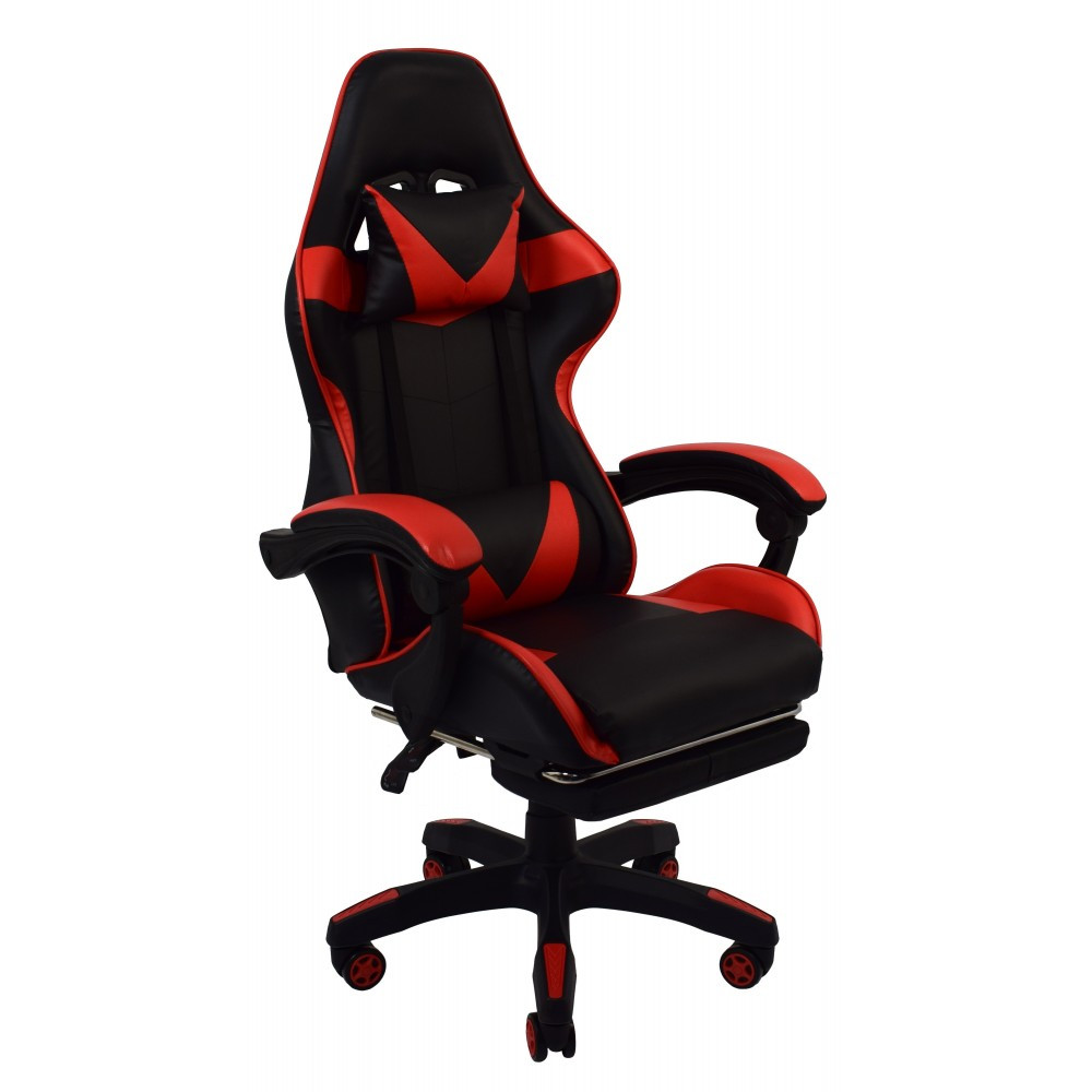 Крісло геймерське розкладне B 810 з системою гойдання з підставкою для ніг геймерський стілець компьютерны червоний