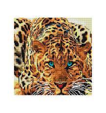 Мозаика на подрамнике Белоснежка Леопард