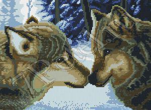 Алмазная вышивка Белоснежка «Два волка»260-ST-S