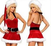Сексуальное новогоднее платье снегурочки, S-XXL (размеры)