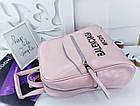 Женский рюкзак-сумка пудрового цвета, натуральная кожа, фото 3