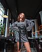 Женское блестящее серебристое мини платье, фото 4