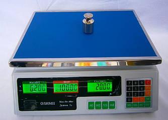 Электронные весы Олимп А-9 до 40 кг аккумулятор 6 В