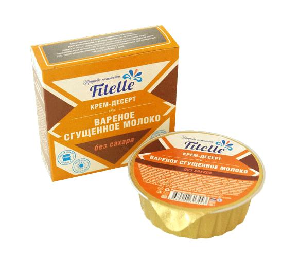 """Крем-десерт вареное сгущенное молоко без сахара """"Fitelle"""" (Фителль)"""