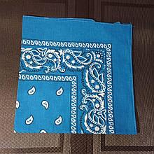 Бандана классическая светло-синяя 55х55 см