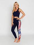 Женский костюм для фитнеса Bas Bleu Rainbow L Темно-синий с красным, фото 5