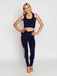 Женский костюм для фитнеса Bas Bleu Rainbow L Темно-синий с красным, фото 2