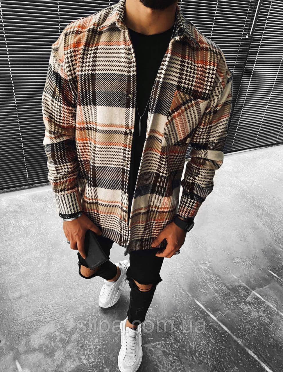 Чоловіча стильна байкова сорочка оверсайз ( Туреччина )